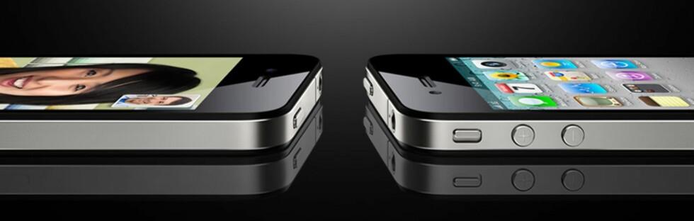 iPhone 4 er tynnere enn sine forgjengere. Foto: Apple