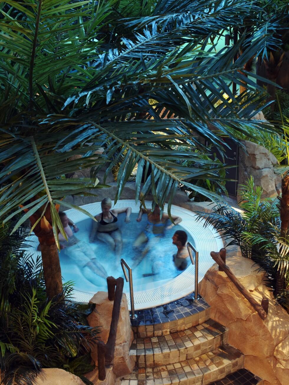 Boblebad under palmetrærne. Foto: The Reef Resort