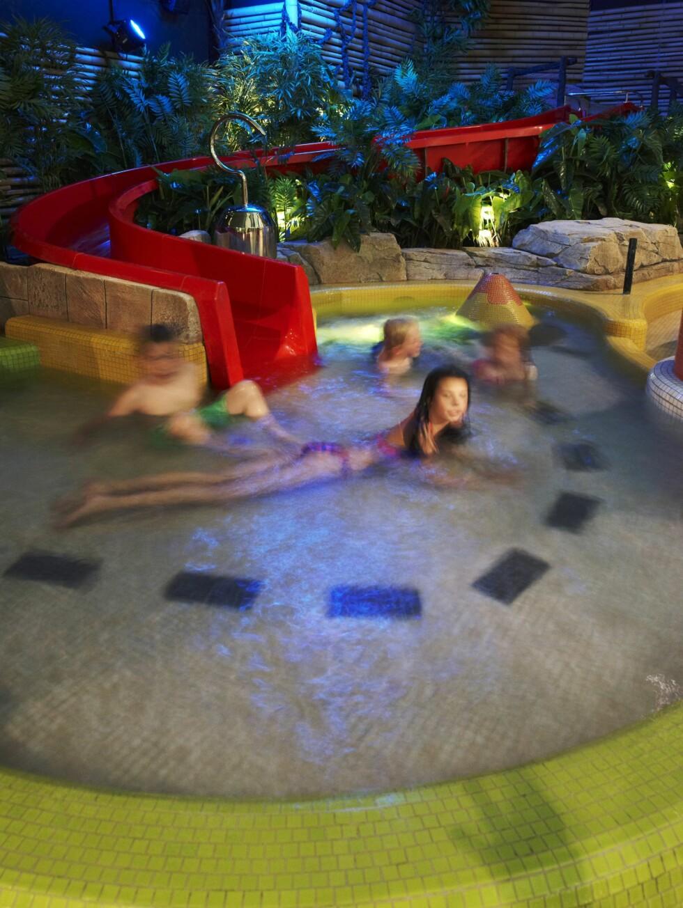 The Reef er en klar vinner hos badeglade barn. Foto: The Reef Resort