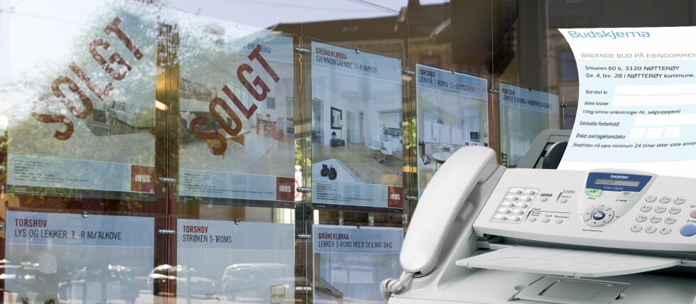 TUNGVINT: Det er ikke så ofte man trenger en faks, men i en budsituasjon er det fortsatt vanlig.  Foto: Per Ervland