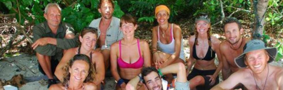 Her er alle eventyrerne som dro av gårde til den øde øya. Mayliss Blix sitter som nummer tre fra høyre. Foto: Mayliss Blix