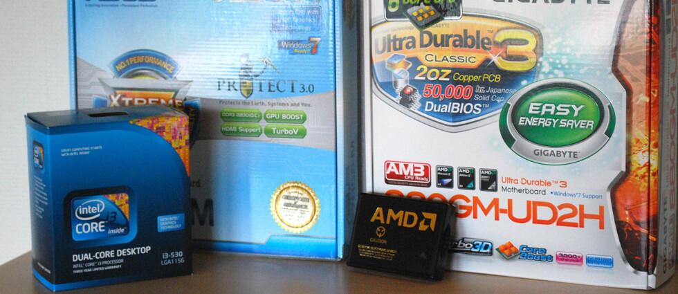 Intel eller AMD? Begge byr på potente utgangspunkter for mediesenter-PC, til en rimelig penge. Foto: Bjørn Eirik Loftås