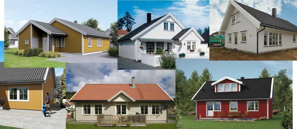 <b>BILLIGE FERDIGHUS:</b> De rimeligste ferdighusene koster fra rundt 1 million kroner. Foto: Produsentene