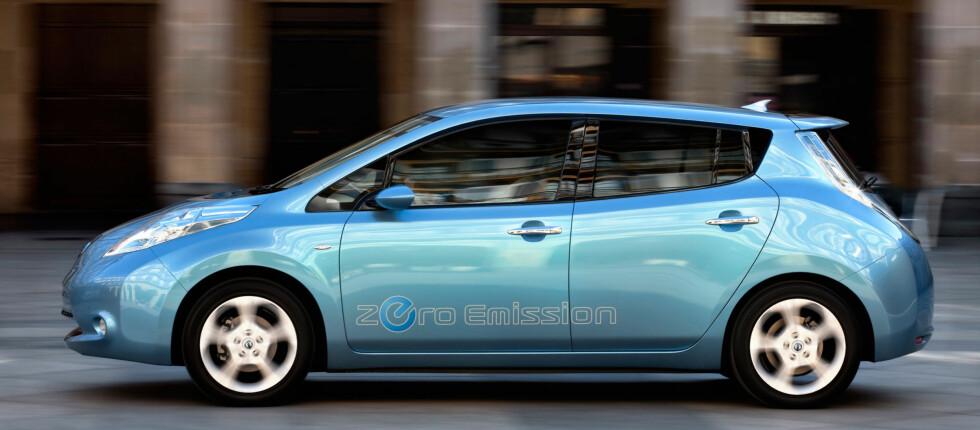 Nissan Leaf blir klart mer anvendelig enn dagens elbiler Foto: Nissan