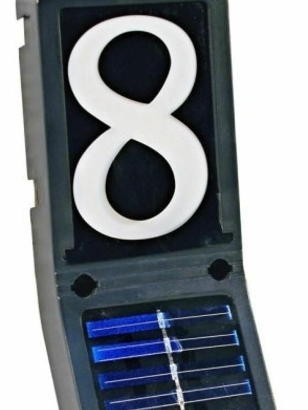 Husnummer-belysning fra Norsalg - 119 kroner