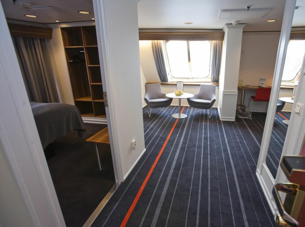 DFDS oppgraderer skipene sine med flere luksuslugarer, som vil bli mer som de eksisterende suitene - som du kan se eksempel på her. Bildet er tatt i en annen sammenheng, i 2010. Foto: Per Ervland