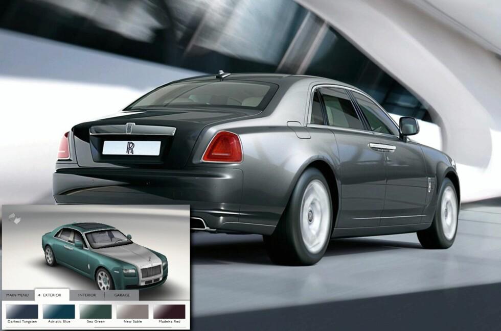 DRØMMEBIL? Rolls Royce Ghost er uoppnåelig for de fleste, men både de som har råd og de som ikke har det kan drømme seg bort med en ny iPhone-applikasjon.