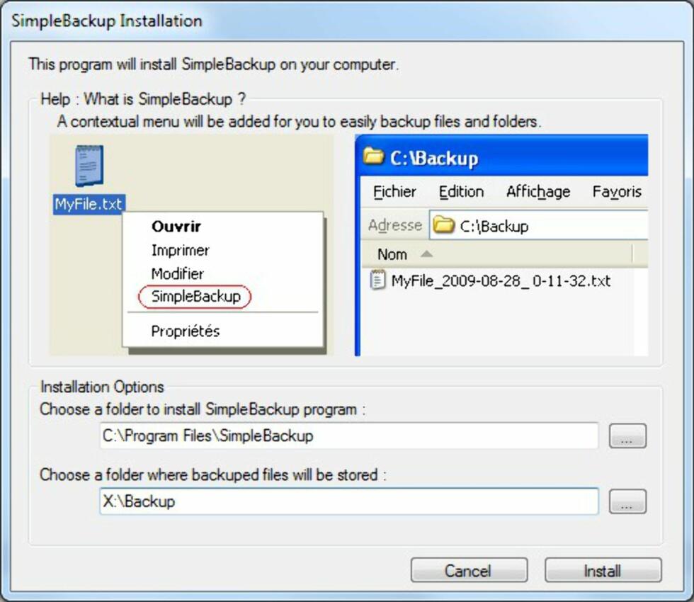 Simplebackup - enklere backup får du ikke
