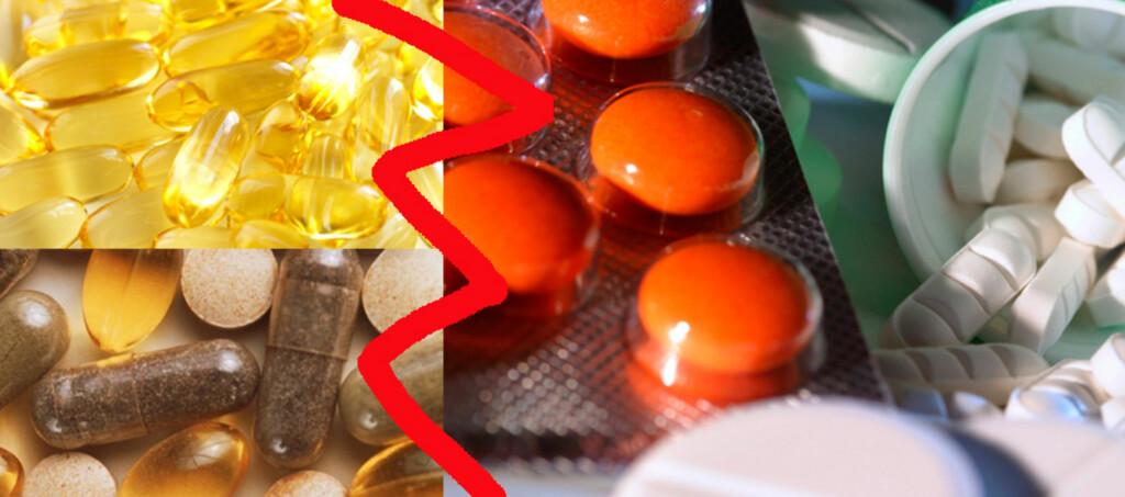 Omega-3 tatt i kombinasjon med det vanlige blodfortynnede legemiddelet Marevan kan være uheldig, da det gir økt fare for blødninger. Andre kombinasjoner av naturmidler og legemidler kan også være  farlig (illustrasjonsfoto).  Foto: Colourbox.com og Science Photo