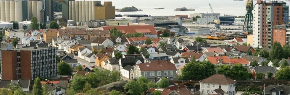Torstrand i Larvik - den byen der norske boligpriser øker mest.  Foto: Wikimedia Commons/Mahlum