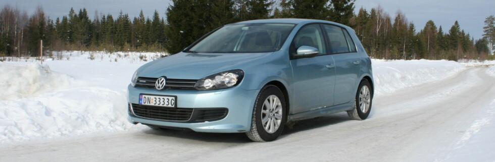 Bildet viser en utgave av sjette generasjon Golf. Ifølge Volkswagen vil elbilen Golf blue-e-motion bli introdusert allerede i 2013. Foto: Knut Moberg