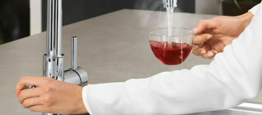 Grohe Red gir deg kokende vann rett fra springen. Foto: Produsenten