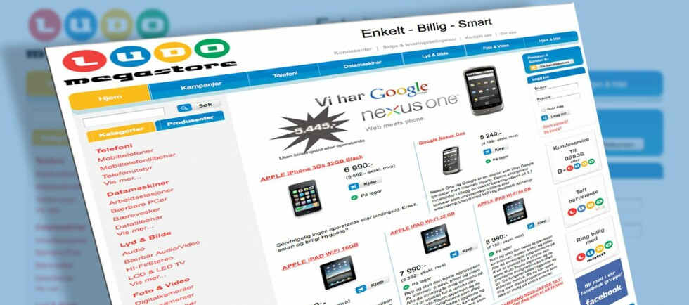 Den nye elektronikk-nettbutikken Ludomegastore.no har som målsetting å utfordre blant andre komplett.no, mpx.no, elkjop.no, lefdal.com, og dustinhome.no. Foto: Per Ervland