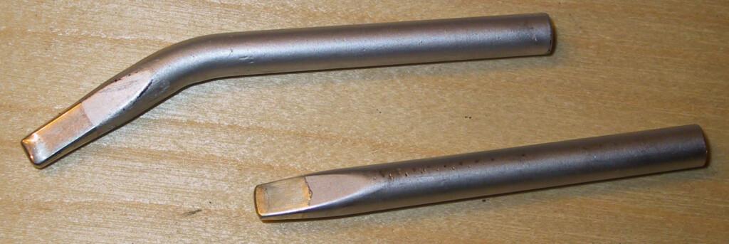 Vinklet og rett spiss til loddebolt Foto: Brynjulf Blix