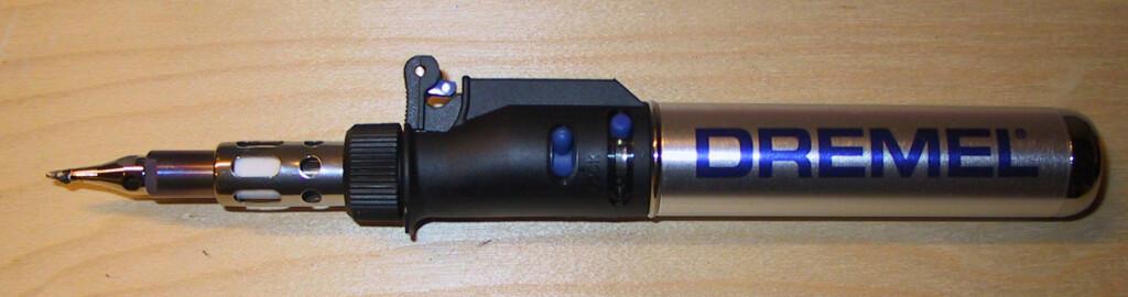 Gassdrevet loddepenn fra Dremel Foto: Brynjulf Blix