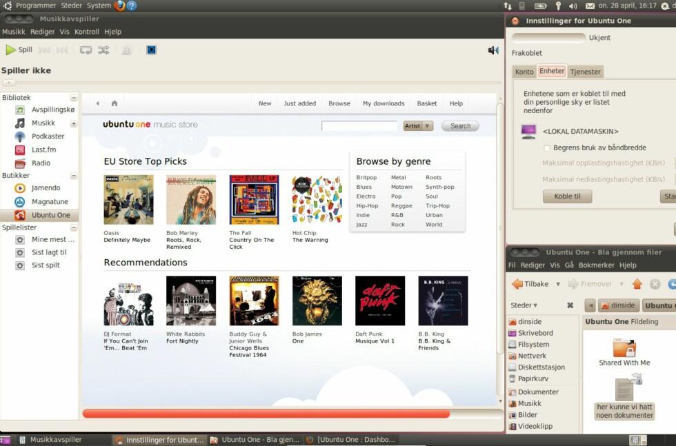 Ubuntu One Music Store tilbyr millioner av DRM-frie sanger. Foto: Fredrik Bølstad