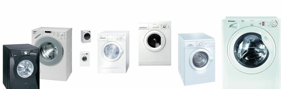 Hvilken av disse maskinene du bør velge? Nummer to fra venstre, dersom økonomien tillater det. Er budsjettet stramt, gå for maskinen helt til høyre. Foto: Produsentene/DinSide