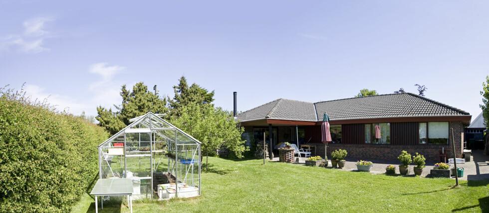HVOR SKAL DET STÅ? Sol og le er viktige stikkord når du skal plassere drivhuset i hagen. Foto: Colourbox.com