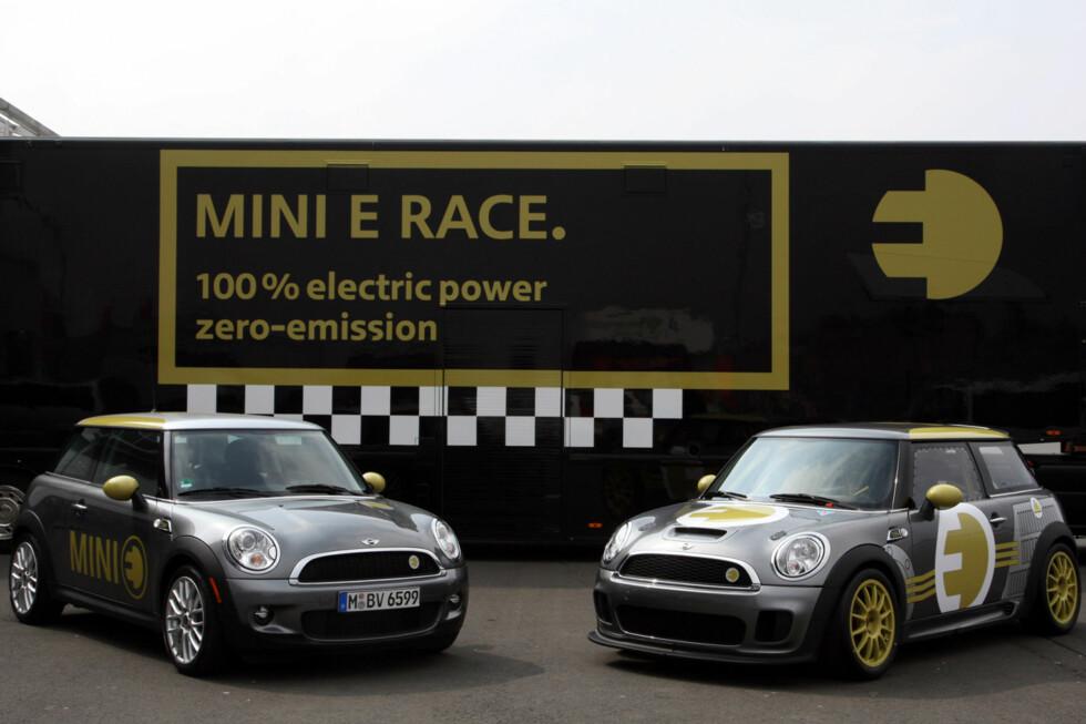 MINI E Race (right) und MINI E (left). (04/2010) Foto: an.niedermeyer
