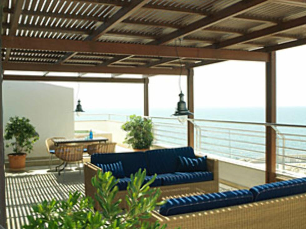 Fra terrassen på hotellet. Foto: Portixol, Mallorca