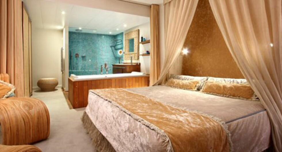 Alle rommene er innredet helt forskjellig. Fellesnevneren er luksus. Foto: 3,14, Cannes
