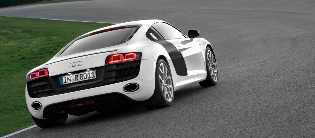 Audi R8 V10 kan blant annet skilte med 525 hestekrefter og 0 til 100 på 3,9 sekunder.
