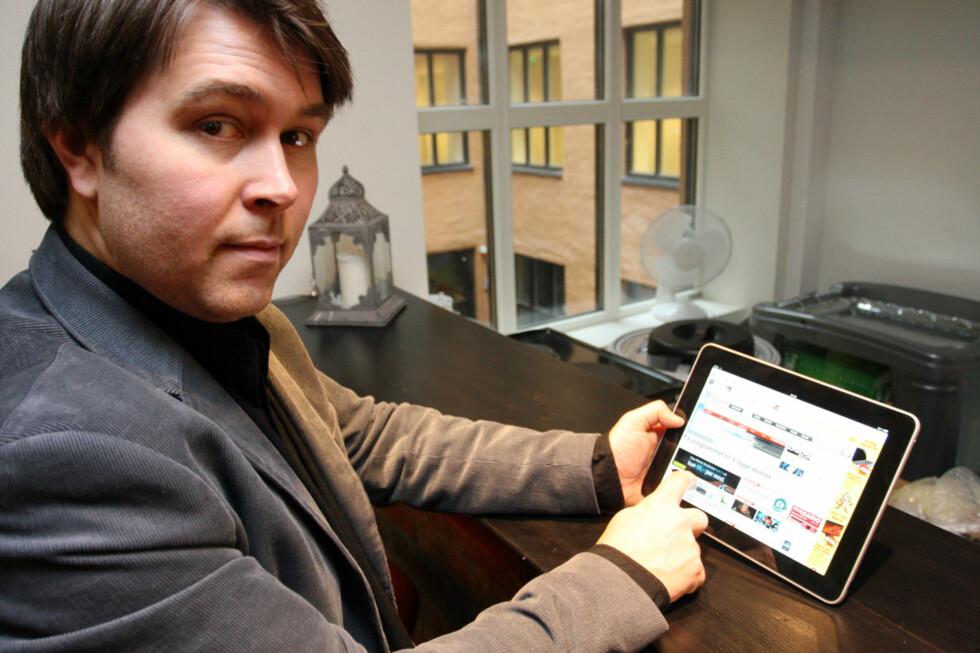 Bjørn Eirik Loftås har testet iPad. Foto: Marius Jørgenrud