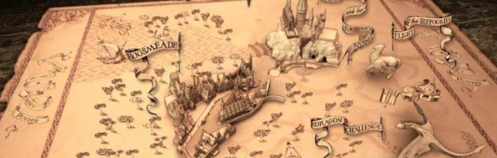 Dette kartet viser hvordan parken ser ut.  Foto: Universal Orlando