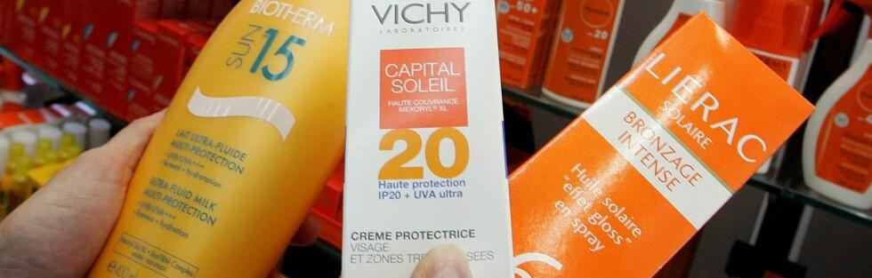VIRKER ENNÅ: Du trenger ikke å kjøpe ny solkrem hvert år, ifølge tester fra danske Forbrugerrådet. Foto: Illustrasjonsfoto Colourbox.com