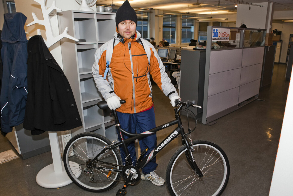 En spent Bjørn Eirik på vei ut. Foto: Per Ervland (bilde & video)