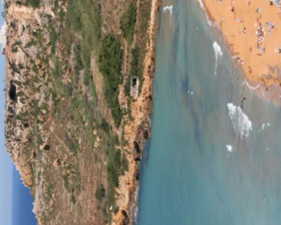 Ramla Bay på Gozo. Foto: Marte Okkelmo
