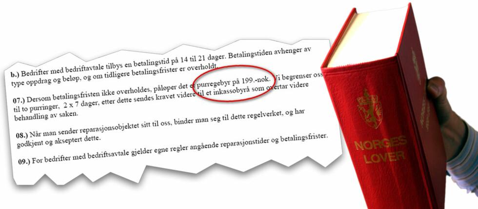 ER DETTE LOV? Nei, mener Forbrukerrådet.  Foto: Per Ervland