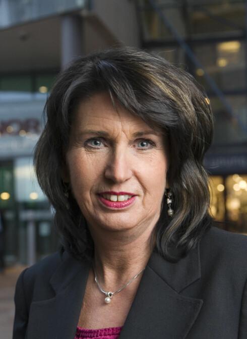 Aud-Helen Rasmussen er informasjonssjef i DnB NOR. Foto: DNB