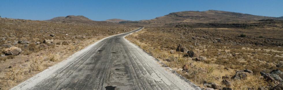 FARLIGE VEIER: Hellas har blant de farligste veiene i Europa, når det kommer til trafikkdrepte. Bildet er fra øya Lesbos. Foto: Stephen Eastop