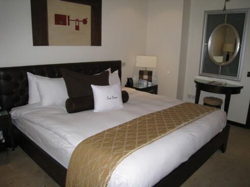 Slik ser hotellrommet på Doubletree Courthouse ut. Les anmeldelsen ved å klikke på lenken til venstre. Foto: Stine Okkelmo