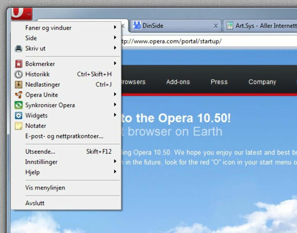 image: Opera klar i versjon 10.5