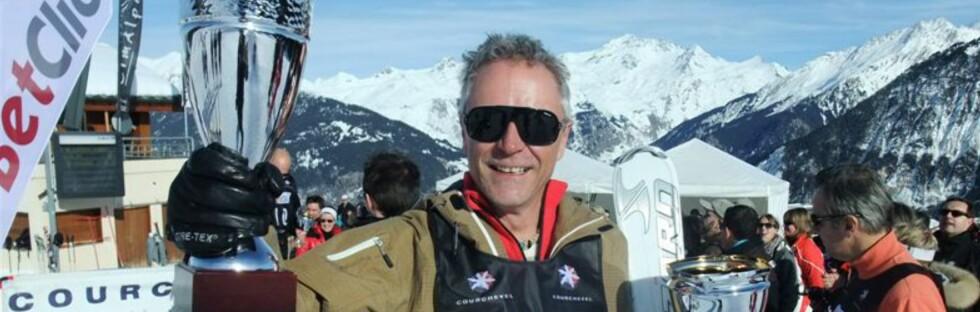 Lars Bull lekte seg med konkurrentene i skirennet i Courchevel. Foto: Ole Thomas Halvorsen