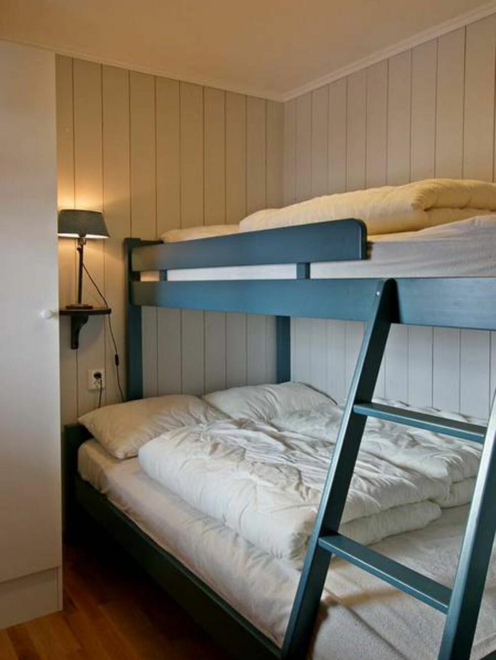 De andre soverommene har køyesenger. Foto: Skarsnuten Hotell