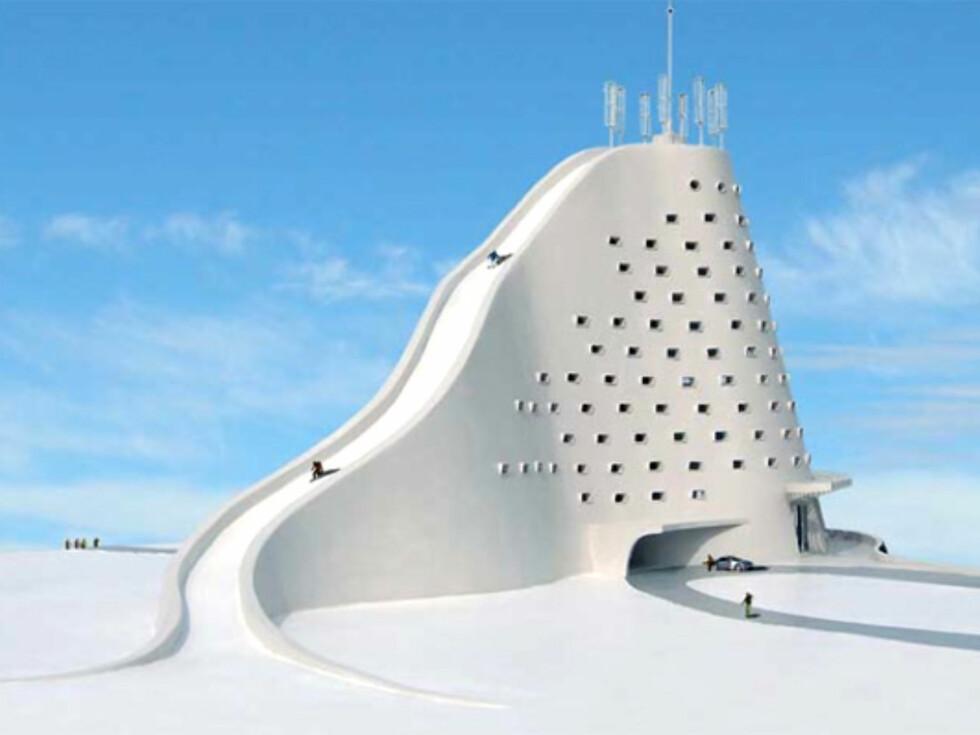 Den 122 meter lange skibakken skal også munne brukes om sommeren. Foto: Michael Jantzen