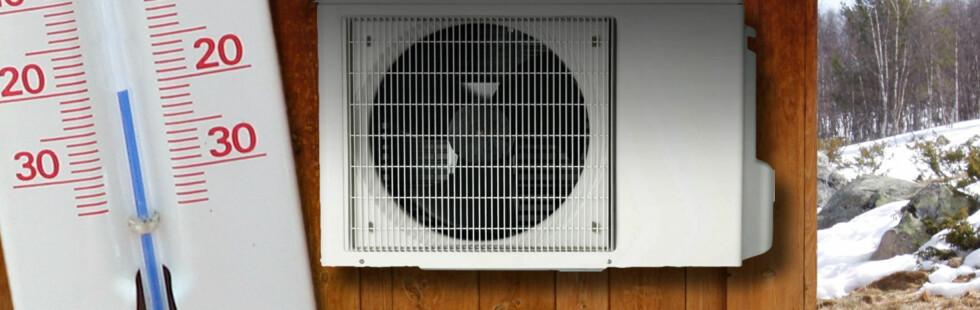 Er det trygt å montere varmepumpe nå, eller bør du vente til våren?  Foto: Per Ervland