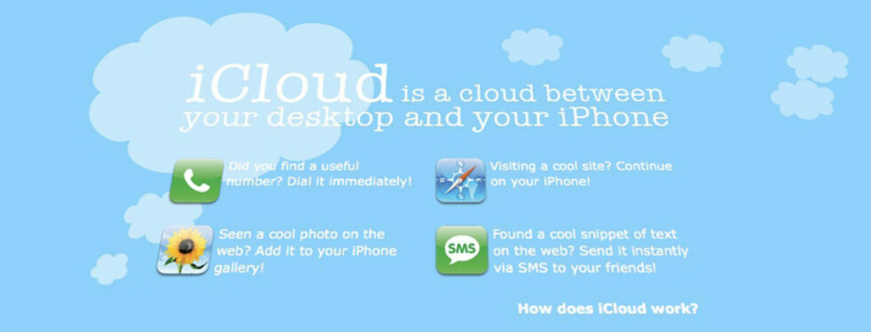 iCloud - fra PC til iPhone