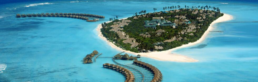 Hvis du har mellom 44.000 og 54.000 kroner å avse - per person - kan du og din kjære kose dere her, på Hilton Iru Fushi Beach Resort & Spa. Det unike hotellet ligger på Maldivenes Noonu-atoll og Star Tour disponerer ti rom. Foto: Star Tour
