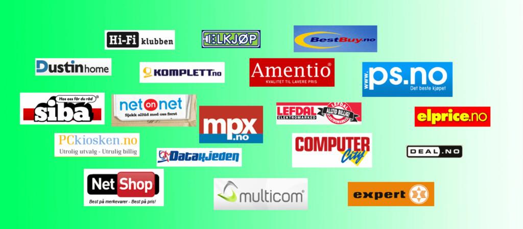 Hvilken av disse elektronikk-nettbutikkene er etter ditt syn den beste i Norge? Si din mening og se hva andre DinSide-lesere mener. Avstemmingen vil være aktiv til mandag 15. februar, da vi kårer en vinner. Foto: Jogrim Aabakken