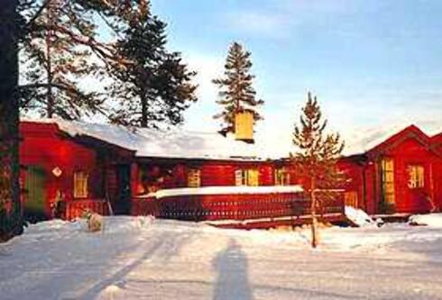 Denne hytta på Trysil koster 9.500 i vinterferien. Foto: Norgesbooking