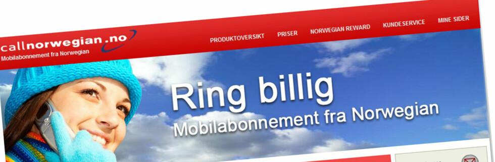 SJEKK PRISEN: Ikke så dyrt, men langt fra billigst i markedet. (Faksimile: callnorwegian.no)
