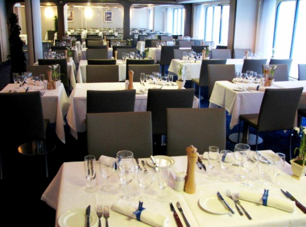 Gourmetrestauranten Marco Polo er flyttet slik at den har fått flere vinduer. Foto: DFDS Seaways