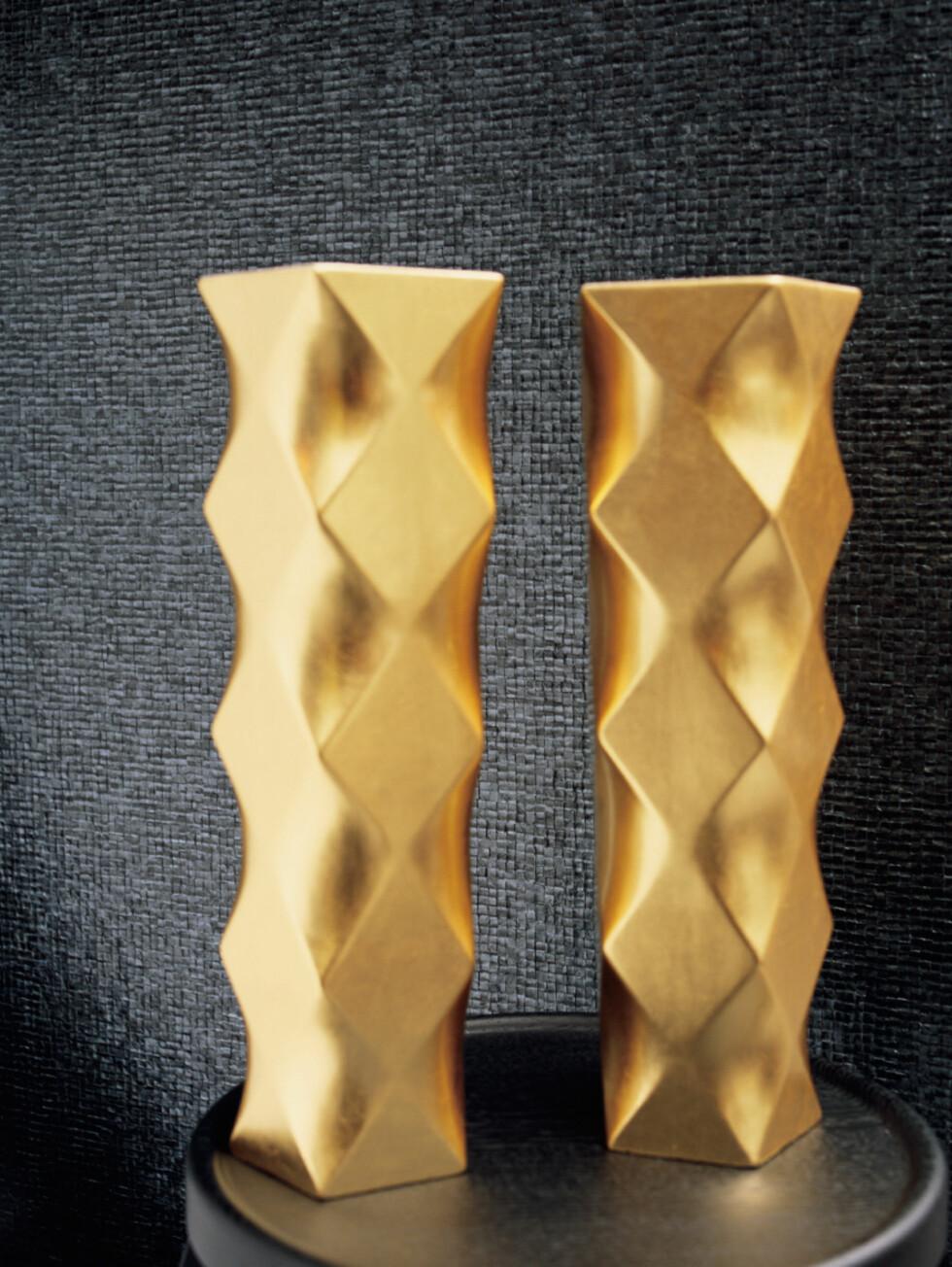 Fliser? Glassmosaikk? Nei, vinyltapet fra Holmen-Tex. Tapetet kommer også med mønster, og er vaskbar. Pris: Rundt 2.000 kroner per rull. Foto: Holmen-Tex