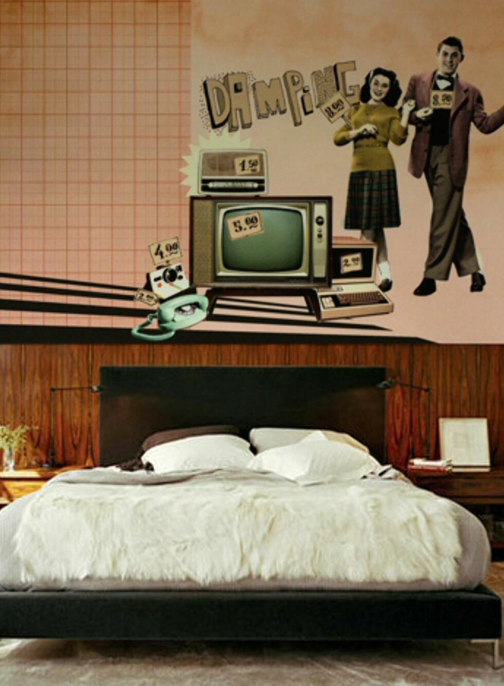 Hektet på 50-tallet? Tapetet Damping fra tyrkiske Studio nimmo. Pris: Rundt 800 kroner per rull. Foto: Studio nimmo