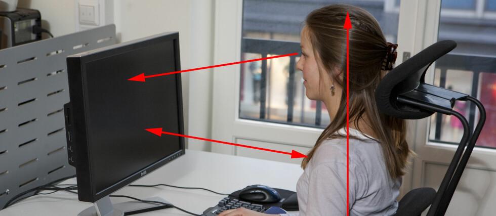 Sitter du riktig på jobben og på hjemmekontoret? Sannsynligvis ikke. Dagens artikkel gir deg en rask guide til riktig sittestilling, noe som blant annet kan spare deg for rygg- og nakkeproblemer i fremtiden. Foto: Per Ervland