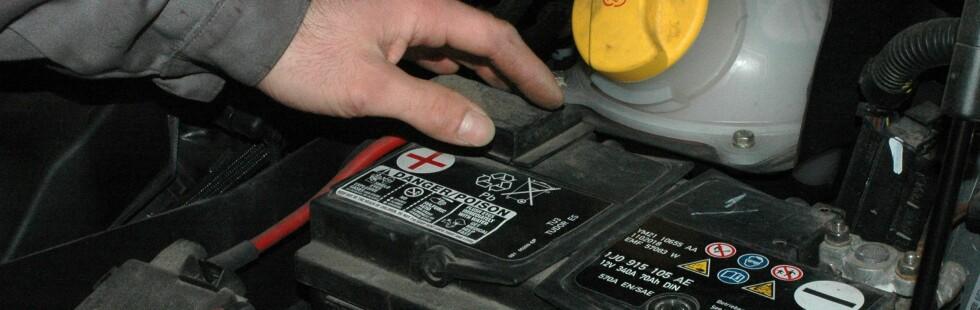 Illustrasjonsfoto: Billigbatterier sliter med ytelsene i kaldt vær og kan gi deg starttrøbbel, ifølge svensk laboratorietest. Foto: COLOURBOX.COM